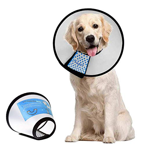 Supet Dog Cone Adjustable Pet Cone Pet Recovery Collar Comfy Pet Cone Collar Protective Collar for After Surgery Anti-Bite Lick Wound Healing Safety...