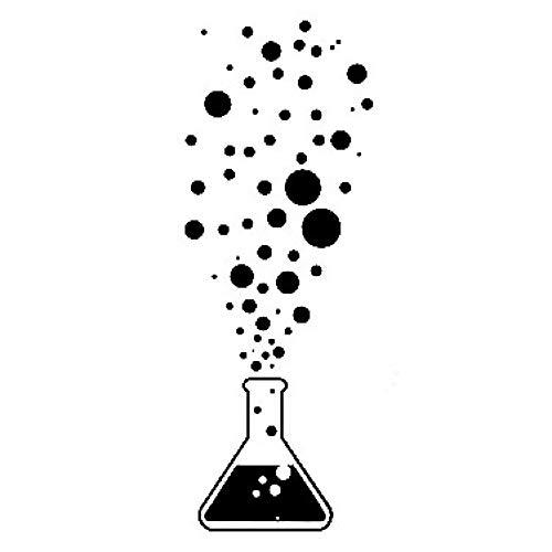 unknow 6.2CM * 16.7CM Niedliche Chemie Reagenzglas Wissenschaft Wissenschaftler Blasen Vinyl Auto Aufkleber