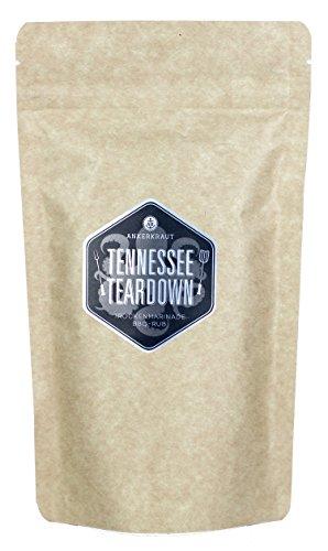 Ankerkraut Tennessee Teardown, BBQ Rub Gewürzmischung zum Grillen, Memphis Style, 250g im aromadichten Beutel