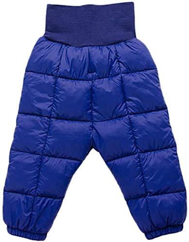 Clothing Pantalones para niños, para bebés y niñas, pantalones cálidos sólidos, elásticos, de cintura alta, pantalones largos (color: azul marino, talla: 4 – 5 años)