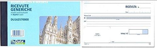 Data Ufficio du162570000 Blocchi ricevute generiche data ufficio, 1 Confezione da 5  pezzi