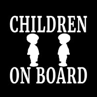 車のステッカーの装飾 12.7cmの* 12.7cmのCHILDRENボーイビニールデカール家族赤ちゃん子供の安全車のトラックブラック/シルバー (Color Name : Silver)