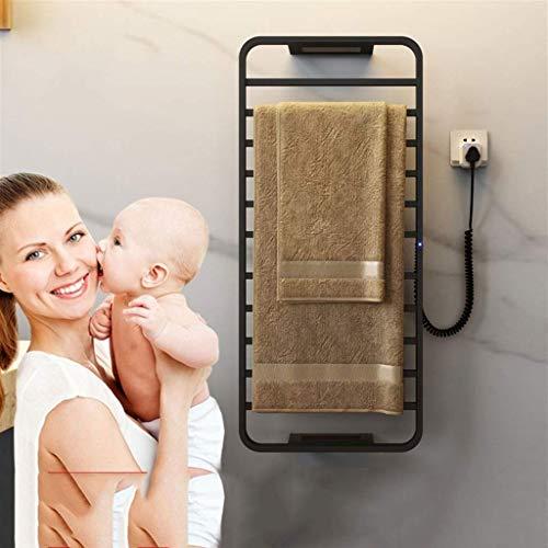 ASDWA Smart - Portasciugamani elettrico, 120 W, 90 x 42 cm, spazio in alluminio, temperatura costante, temporizzazione, mensola da bagno