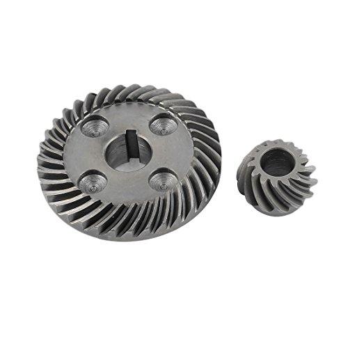 Recambio Metal ángulo Amoladoras Conjunto De Engranaje Cónico Espiral para Hitachi 100
