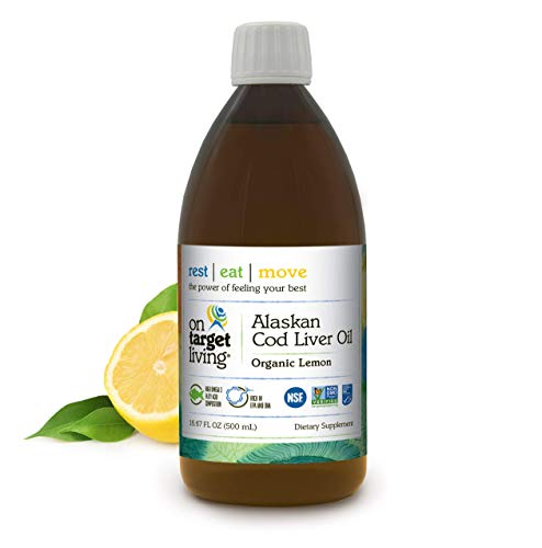 On Target Living Alaskan Cod Liver Oil Organic Lemon Flavor...