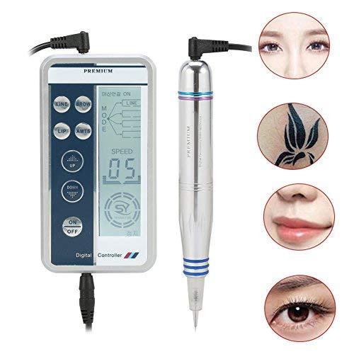 Máquina de tatuaje permanente del lápiz del maquillaje del delineador de ojos del labio de la ceja con 2 agujas de 1R y 3R no suele sangrar