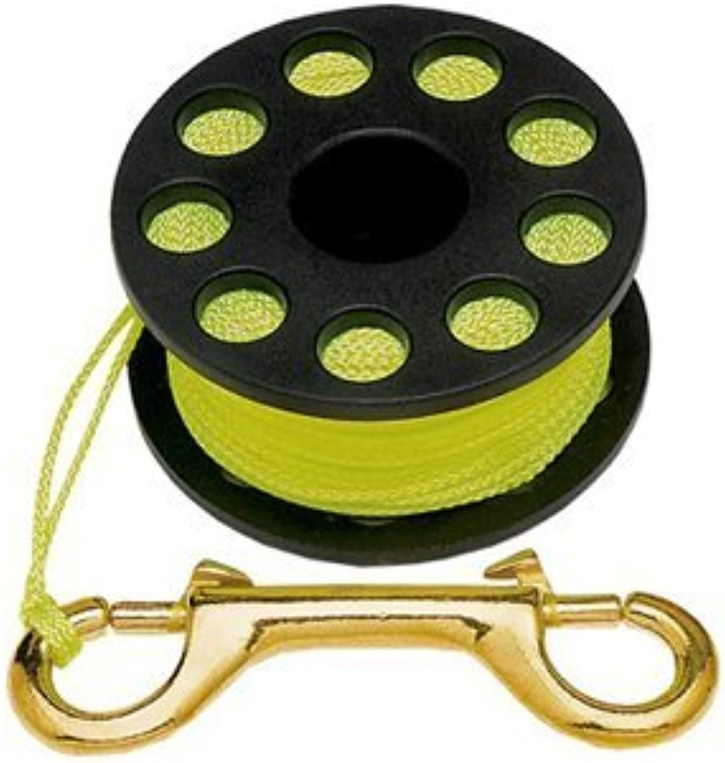 Finger Reel with Brass Clip Wreck Scuba Diving Tech Spool 3 Sizes, LARGE 160 FT by Storm Accessories