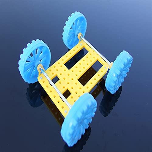 LIXIAONMKOP 77pcs engrenage de vitesses de vitesse en plastique Model Craft Craft Four à quatre roues motrices Voiture auto Robot Enfants Poulie Courroie Essentiel scientifique
