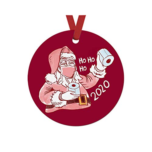 Fasclot Decoration & Hangs Wearing Mask Ornaments,2020 Badly,But Merry Christmas Tree Decoration