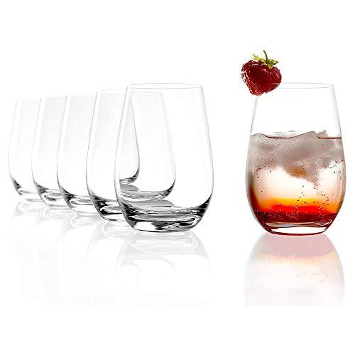 Stölzle Lausitz Gläser I Trinkgläser 6er Set I Gläser-Set spülmaschinenfest I Trinkgläser Set mit hoher Bruchresistenz I Universalgläser als Wassergläser Saftgläser uvm. (465 ml)