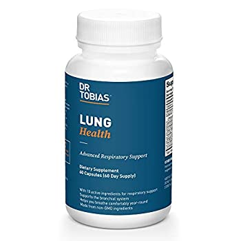 Dr Tobias Lung Support Supplement Lung Health Support Lung Cleanse Formula Includes Vitamin C to Support Bronchial System - 60 Capsules 1 Daily