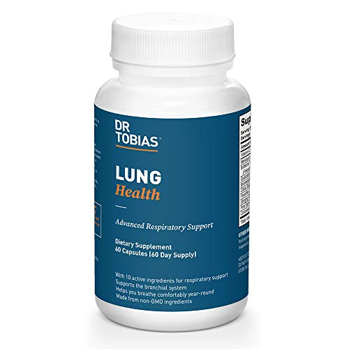 Dr. Tobias Lung Support Supplement, Lung Health Support, Lung Cleanse Formula Includes Vitamin C to Support Bronchial System - 60 Capsules, 1 Daily