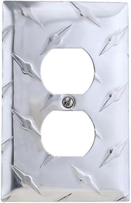 Diamond Plate John Deere Light Switch Plate With Screws