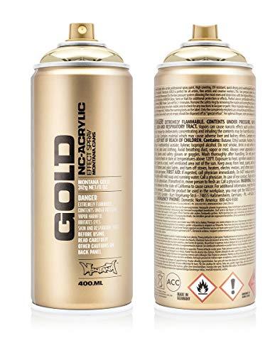 Montana Cans Montana GOLD 400 ml Color, Goldchrome Spray...