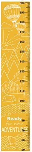 GARNECK Hoogte Grafieken Muurstickers Zelfklevende Lichaam Hoogte Liniaal Verwijderbare Kwekerij Muur Sticker Voor Thuis Slaapkamer Kinderkamer Decoratie 30Cmx151cm Oranje