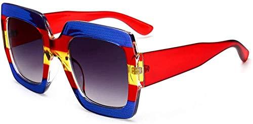 ZYIZEE Gafas de Sol Gafas de Sol de Moda para Mujer con Montura de 7 Colores Gafas de Sol cuadradas para Hombre Gafas de Sol Grandes UV de Viaje Sombras-1