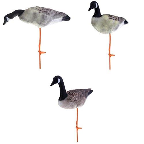 LoveinDIY 3X Full Body Goose Hunting Decoys Lawn Garden Decors Greenhand 3 Kinds