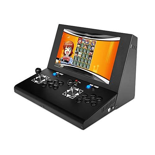 YBCN Machine de Jeu d'arcade, Bascule Grand écran Portable de 19 Pouces pour Lutter Contre la Machine de Jeu rétro pour la Maison, Double poignée USB à monnayeur et Carte mémoire TF