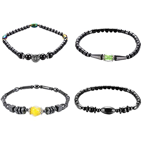Healifty 4 pulseras magnéticas para tobilleras, cadena de tobillo, joyería para mujeres y niñas, regalo
