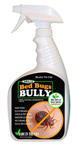 SRILLS Bed Bugs Bully 32oz Non-Toxic Bed Bug Killer Spray Control Repellent All-Natural - 1003