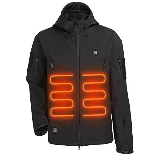 ITIEBO Heated Jacket, Heated Hoodie, Heated Jackets for Men with Battery Pack