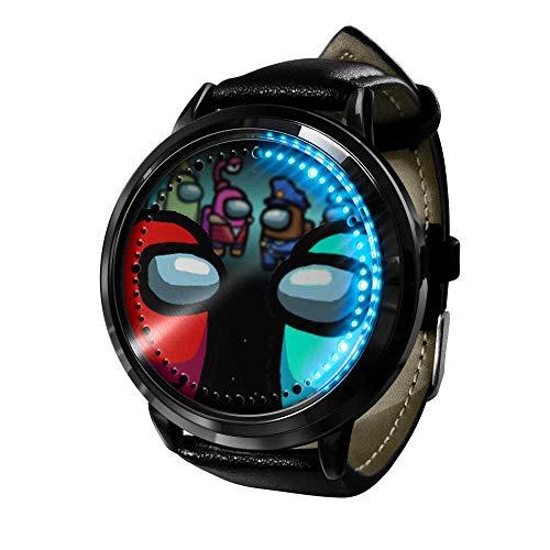 Hombre-Lobo Reloj 3D Anime Reloj LED de Moda Casual de Cuarzo analógico Reloj Unisex Correa de Cuero Impermeable Negocios Watches