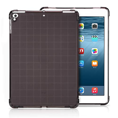 un known Transparent TPU Full Edge Thicken Corners Shockproof Soft Protective Case for iPad 9.7 (2018) / 9.7 (2017) / air / air2 Accessory Renewal Repair for Telephone (Color : Black)