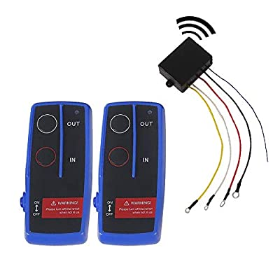 OPENROAD 12V Wireless Remote Control,2 Pack ATV/UTV Handle Switch,Recovery Winch Accessories Kit(Up to 5500lbs)