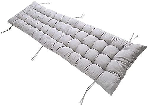 DanChen Cojín largo para asiento de sofá de 2 plazas, cojín grande de 3 plazas, con lazos, acolchado grueso, cojín de repuesto para muebles, cómoda tumbona, colchón, para exteriores, patio