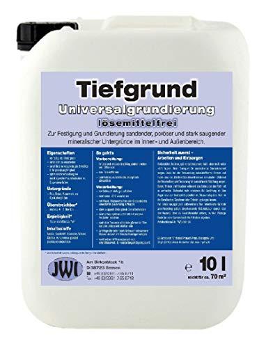 10 L Qualitäts Tiefgrund LF Lösemittelfrei Tiefengrund Universalgrundierung Grundierung gebrauchsfertig