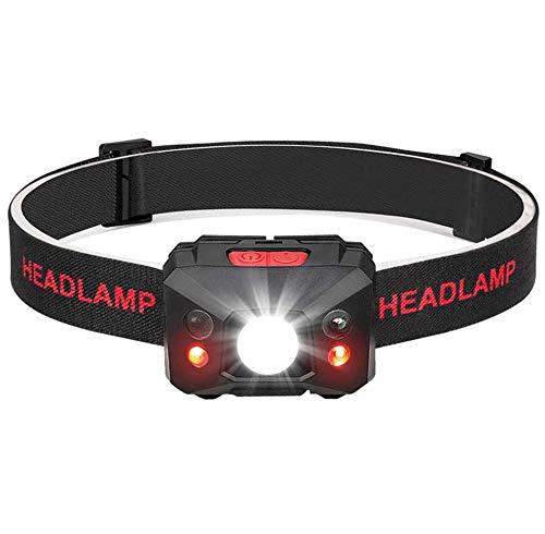 Coquimbo LED Linterna Frontal USB recargable 5 Modos Lampára de cabeza Luz...