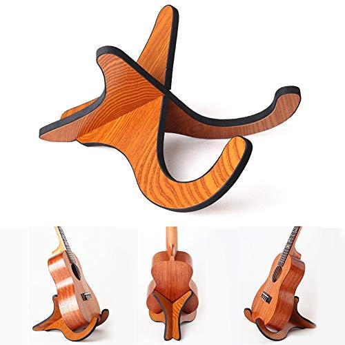 JINM, Ukulelenständer, universelles x-förmiges Gestell, klappbarer Holzständer für Ukulele, Mandoline, Banjo und Violine