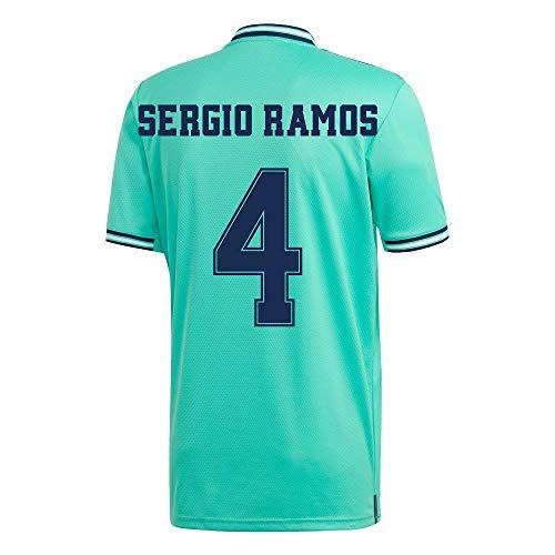 adidas Real Madrid 3. Sergio Ramos 4 Trikot 2019-2020 (Fan Style Beflockung) - M