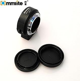 Commlite CM-ENF-E1 PRO - Adaptador de montura de objetivo automático para Nikon Tamron Sigma F a cámara Sony E con control de apertura, IS & VR EXIFTransmitting (versión V06)