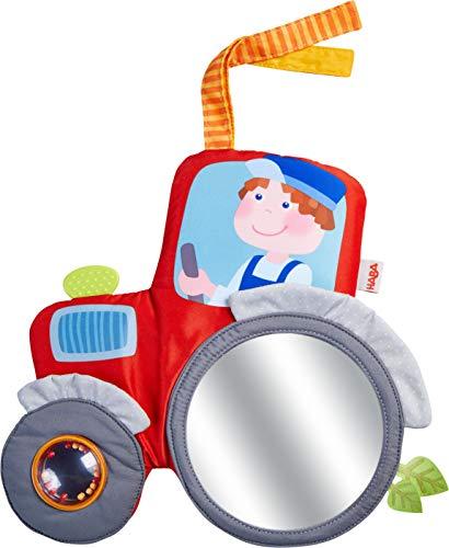 HABA 305407 - Spielkissen Traktor - weiches Spielzeug für Babyschale, Kinderwagen und Kinderbett mit Spielelementen für alle Sinne, Babyspielzeug ab 6 Monaten