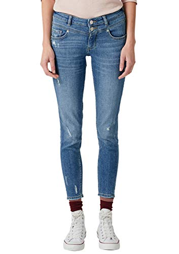 Q/S designed by - s.Oliver Damen 41.809.72.4863 Slim Jeans, Blau (Blue 55z6), Gr. 38