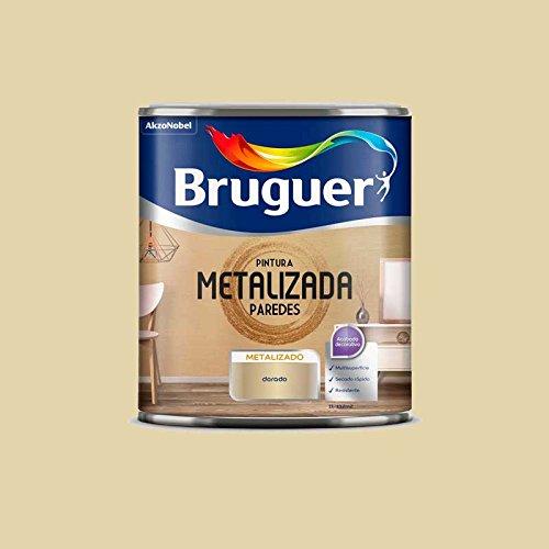 Pintura metalizada para paredes Bruguer (Oro) 1L