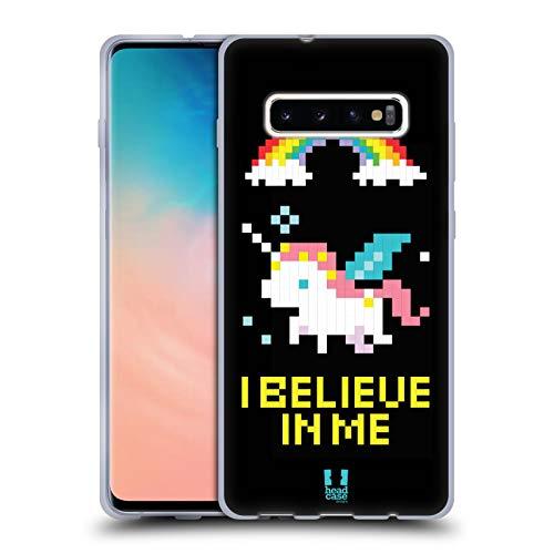 Head Case Designs Unicorno Pop Trend Cover in Morbido Gel e Sfondo di Design Abbinato Compatibile con Samsung Galaxy S10+ / S10 Plus