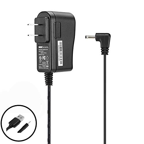Replacement Home Wall AC Power Adapter Charger + DC USB Charging Cable for RCA 10 Viking Pro RCT6303W87DK RCT6303W87 10.1 Inch RCT6213W87DK RCT6213W87 11.6 Inch Tablet