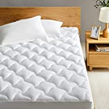 Western Home Cotton Mattress Pad Cover Twin XL Size, Thick Mattress Topper Pillow top with Soft Fluffy Down Alternative Fill, Breathable Quilted Fitted Bed Cover with Deep Pocket(Up to 18 inches)
