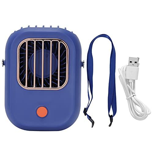 Ventilador de escritorio, ventilador de cuello colgante, carga USB, ventilador de escritorio portátil, regalo para niños, viento de 3 velocidades, para viajes, actividades al aire libre, oficinas