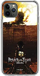 Skinit Clear Phone Case for iPhone 11 Pro Max - Officially Licensed Funimation Attack On Titan Fire Design