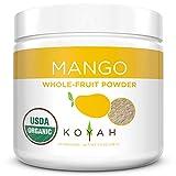 KOYAH - Organic Freeze-dried Mango Powder (1 Scoop = 1/4 Cup Fresh): 30 Servings, 216 g (7.6 oz)
