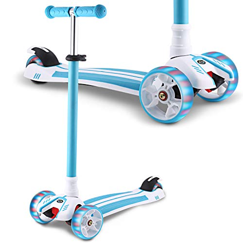 Kick Scooter for Toddlers with LED Light Up Wheels $31.50 (50% OFF)