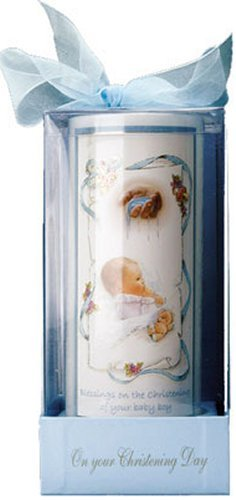Bougie de baptême Bougie de baptême pour garçon dans Une boîte avec Un Ruban