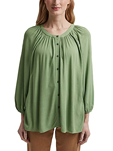 ESPRIT Crinkle-Bluse aus LENZING™ ECOVERO™