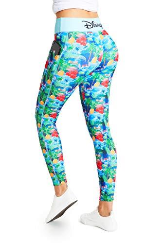 Disney Lilo y Stitch Leggins Mujer, Mallas de Deporte de Mujer Correr Yoga Gimnasio, Ropa Deportiva Mujer, Regalos para Mujer y Adolescentes Talla XS-2XL (Multi, S)