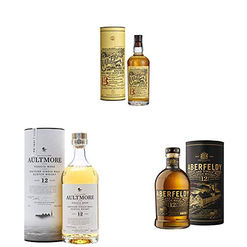 John Dewar & Sons Die Single Malt Whisky Kollektion, Flaschen in voller Größe (3 x 0,7 l)