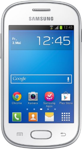 Samsung Galaxy Fame Lite Smartphone (8,9 cm (3,5 Zoll) TFT-Display, 850 MHz Single-Core, 512MB RAM, 3.2 Megapixel Kamera, 4GB interne Speicher, USB 2.0, Android 4.1) pearl-white
