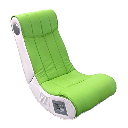 Lifestyle For Home Soundchair Soundz Gaming Chair Spielsessel hell grün Lime weiß Musik Sessel mit Audiosystem